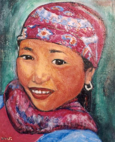 portrait femme tibet